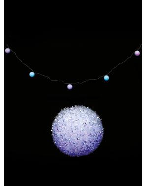 Instalație de Crăciun cu globuri albastre
