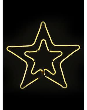 Siluett Stjärna med ljus