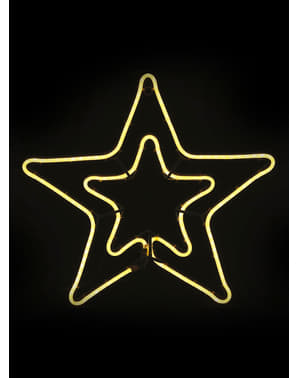 Sternen Silhouette mit Licht