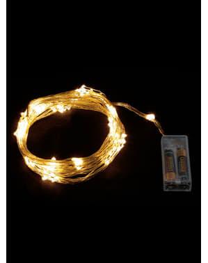 Weihnachts-Lichterkette mit warmweißen Lichtern