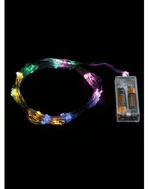 Rama natalícia de luzes multicolor