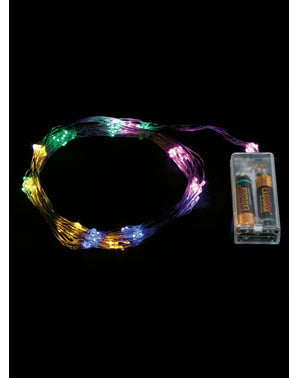 Rama navideña de luces multicolor
