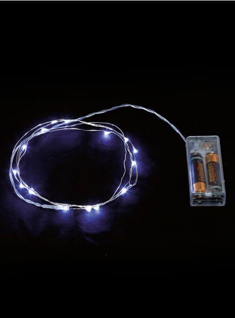 20 LED mikro světel bílý drát - bílá
