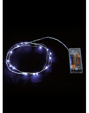 20 LED White Wire Micro Lights - White