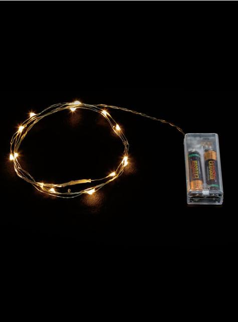 20 LED mikro světel bílý drát - teplá bílá