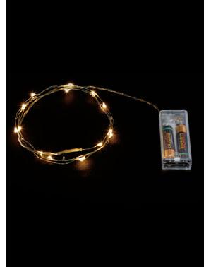 20 LED Hvit Kabel Mikro Lys - Varm Hvit