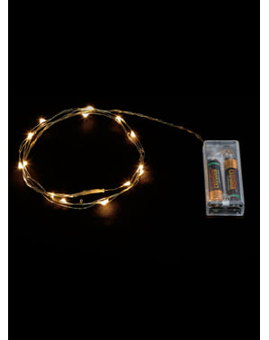 20 LED White Wire Micro Lights - Warm White