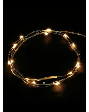 50 LED Hvit Kabel Mikro Lys - Varm Hvit