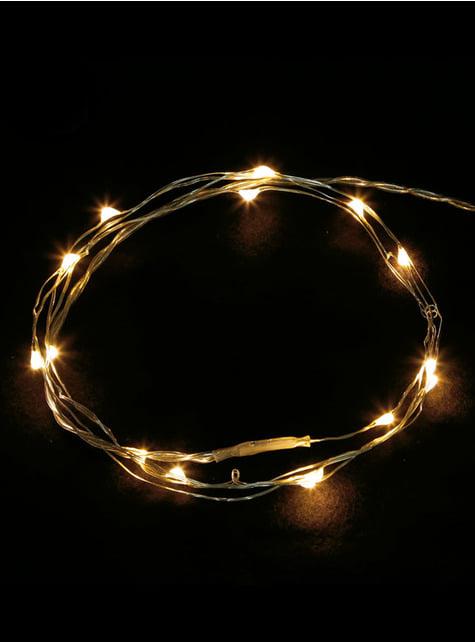 100 LED mikro světel bílý drát - teplá bílá