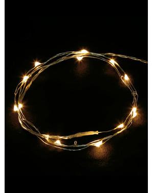 100 אורות מיקרו LED חוט לבן - אור לבן חם
