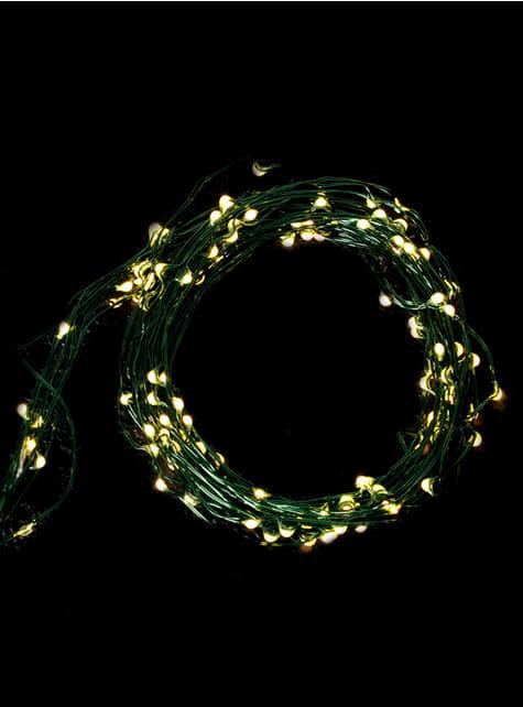 100 Micro LED Lampjes Groen Lichtsnoer - Warm Wit
