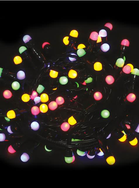 Guirnalda navideña con luces multicolor