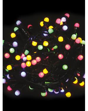 Grinalda natalícia com luzes multicolor