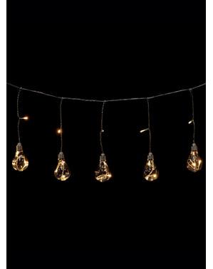 Weihnachtslichterkette mit weißem Licht