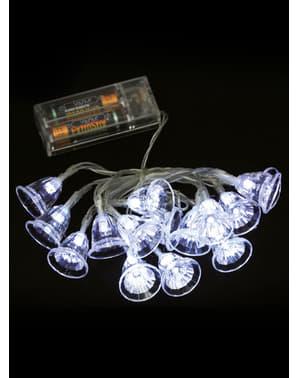 Lampki choinkowe dzwonki - biały kolor