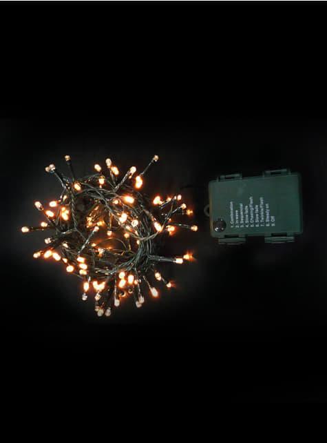 Guirnalda navideña de luces blanco cálido exteriores