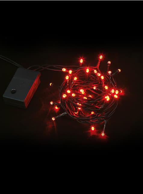 Guirnalda navideña con luces rojas multifunción