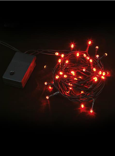 Guirnalda navideña multifunción con luces rojas