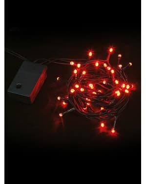 Grinalda natalícia multifunção com luzes vermelhas