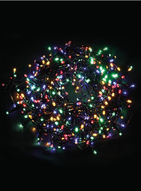 Guirnalda navideña de luces coloridas multifunción