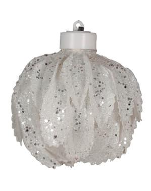Valkoinen valaistu joulupallo