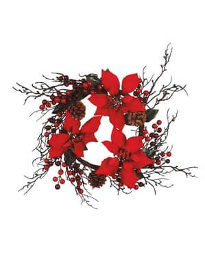 Corona de flor de pascua