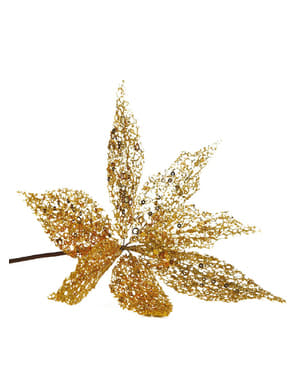 Blomma Julstjärna guldfärgad