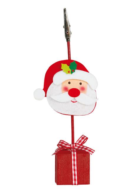 כרטיס סנטה קלאוס חג המולד מחזיק