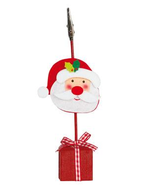 Pinça para cartão de Natal com Pai Natal