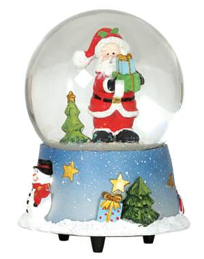 Bola de neve de Pai Natal com música