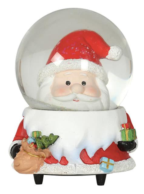 Bola de nieve de Papá Noel con música