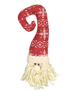 Joulupukin pää hatulla -kuusenkoriste