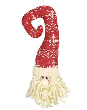 Santa Claus Head with Hat Christmas Tree Ornament