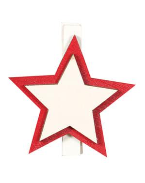 9 pinzas de estrella navideña