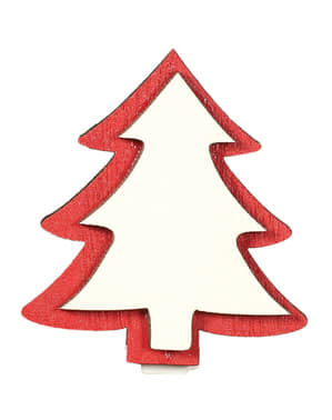9 kpl setti clip-on-joulukuusia