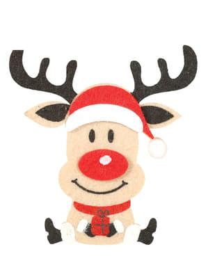 3 Reindeer Head Clips