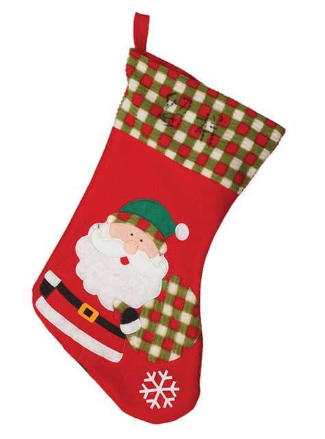45-cm Vánoční punčocha Santa Claus