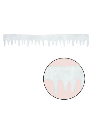 Lumiset jääpuikot -koristebanderolli