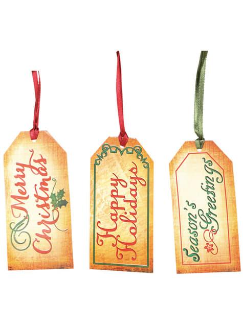 Set de 9 etiquetas navideñas para regalos