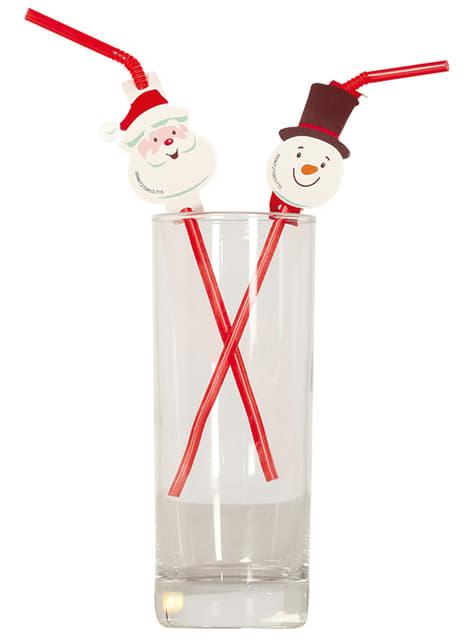 20 Christmas Straws