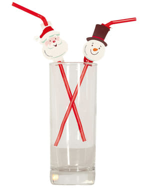 20 świąteczne słomki do napoju