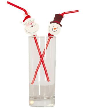 Weihnachtliches Strohhalm Set 20-teilig