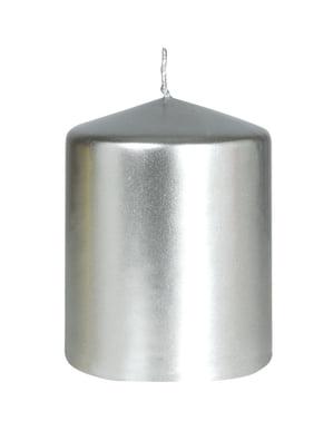 Hopeanvärinen kynttilä