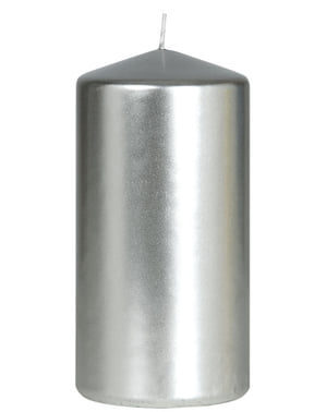 Tall Silver Candle
