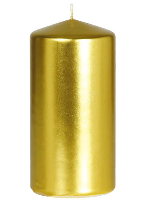 Bougie haute dorée