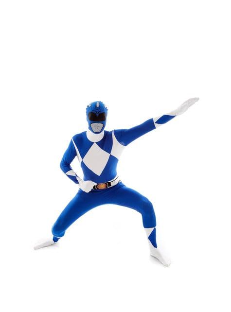 Déguisement Power Rangers Bleu Morphsuit