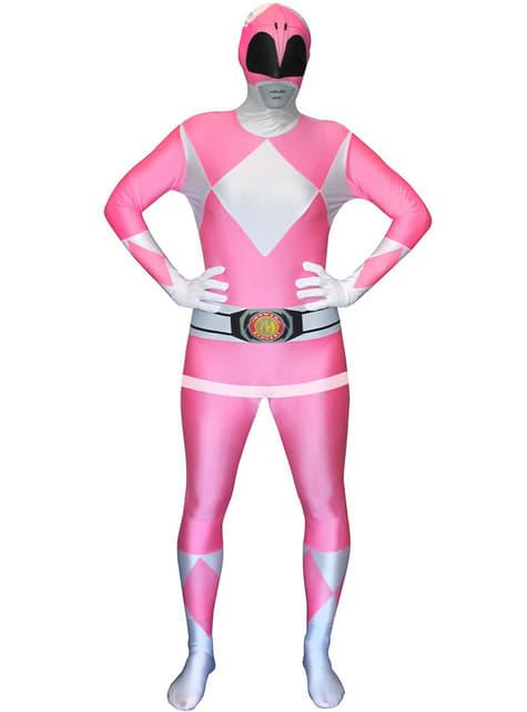 Rózsaszín Power Ranger felnőtt jelmez Morphsuit