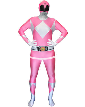 Pink Power Ranger Adult Costume Morphsuit