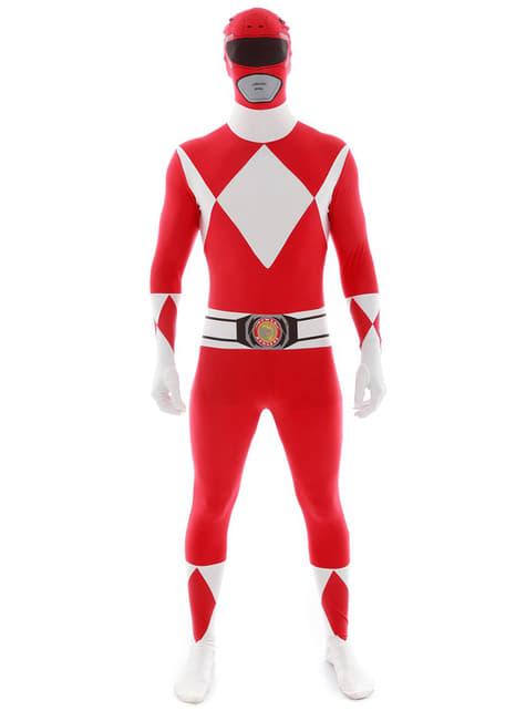Red Power Ranger Взрослый костюм Morphsuit
