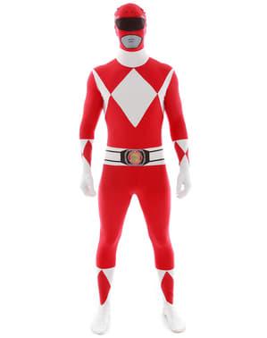Punainen Power Ranger -Morphsuit-asu aikuisille